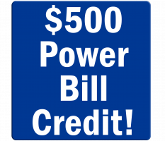 $500 Power Bill Credit